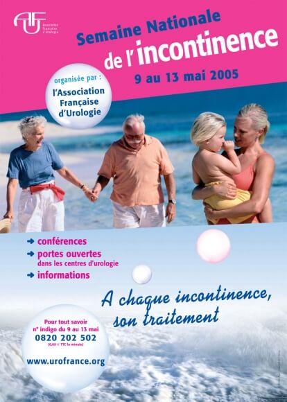 3ème semaine de l'incontinence du 9 au 13 mai 2005, A chaque incontinence, son traitement