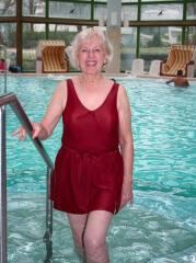 Culotte piscine pour femme avec fermeture dans le dos