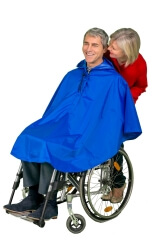 V�tement de pluie court pour fauteuil roulant