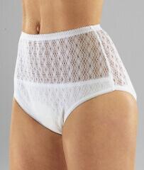 Culotte en coton �tanche pour femme tissu crochet�