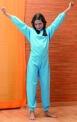 Solaise Grenouillère enfant hiver avec pieds Fabrication sur mesure Santons Imprimé Chiots