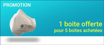 Promotion Masques FFP2 lanières derrière la tête (10 / paquet)