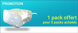 Promotion Masque Tissu Lavables Enfants + 20 Filtres équivalent FFP2