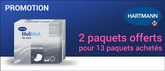 Promotion Hartmann Molicare Premium Men Pad 2 Gouttes