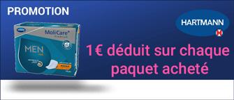 Promotion Hartmann Molicare Premium Men Pad 4 Gouttes