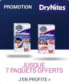 Accédez à la promotion Drynites promotion