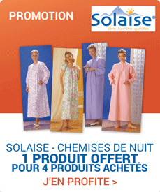 Accédez à la promotion Solaise chemises de nuit