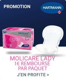 Accédez à la promotion Molicare Lady - 1 Euro Offert