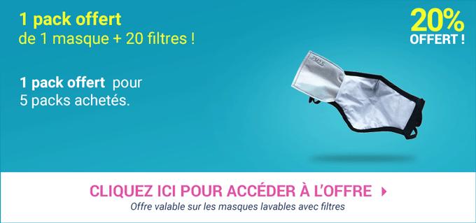 Promotion Masques Lavables + filtres