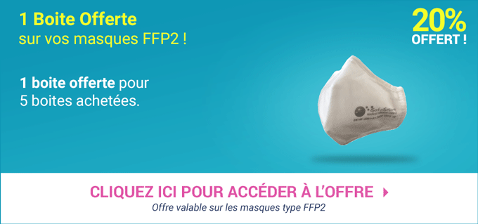 Promotion Masques ffp 2 - Elastiques