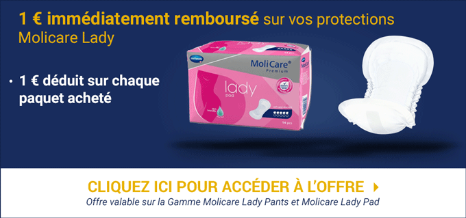 Promotion Molicare Lady - 1 Euro Offert