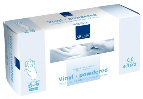 gants vinyle avec poudre taille 8 9. Black Bedroom Furniture Sets. Home Design Ideas