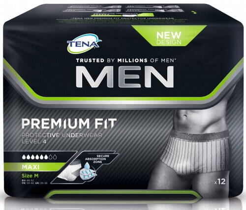 tena men medium premium fit protection urinaire tena incontinence. Black Bedroom Furniture Sets. Home Design Ideas