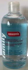 Assanis Gel hydroalcoolique antibactérien 500 ml - Bouchon