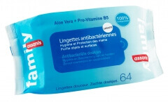 Assanis Lingettes antibactériennes Family