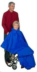 Vêtement de pluie long pour fauteuil roulant